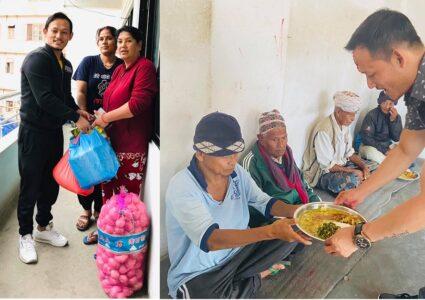युवा व्यवसायी कमल सुब्बाले गरे झापाका गरिब, बिपन्न र सडक मानवलाई सहयोग