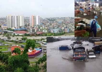 एकैरातको झरीका कारण काठमाडौंका ४ सय घर डुबानमा, जोखिम कायमै